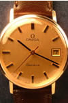 omega manual 9ct gold wristwatch