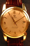 omega automatic gold topped watch