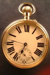 Large open face pocket watch