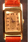 unsigned rectangular wristwatch