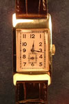 9ct gold buren watch