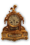 French ormolu and porcelain mantle clock