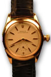 Rolex 18ct ping gold oyster perpetual watch