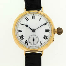 18ct Gold IWC Trench Watch