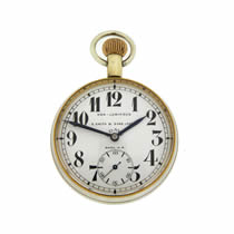 S Smith and Sons 8 Day Military Pocket Watch