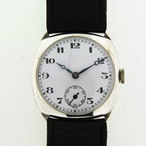 Silver Cushion Watch
