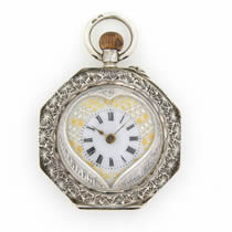 cylinder fob pocket watch