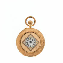 gold and enamel fob watch