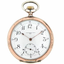 open Faced Silver Pocket Watch