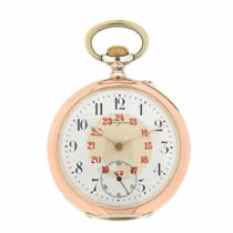 Longines Open Face Silver Pocket Watch