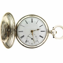 Full Hunter Silver Pocket Watch